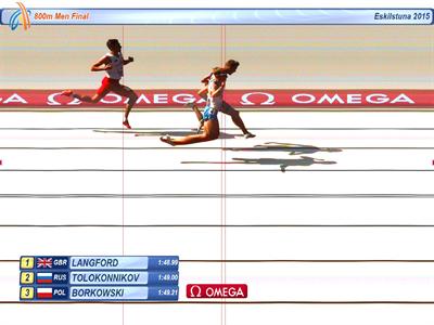 Fotofinisz biegu na 800 m (www.european-athletics.org)