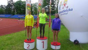Najszybsze na 100 m, od lewej Patrycja Banaś, Kamila Justyńska i Adrianna Makuła