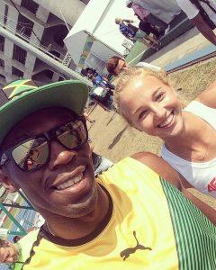 Karolina Kołeczek w Rio z najszybszym człowiekiem świata Usainem Boltem (facebook.com/karolinakoleczek)